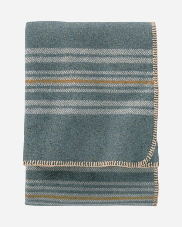 Irving Stripe Throw Shale