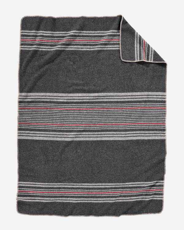 Irving Stripe Throw Charcoal