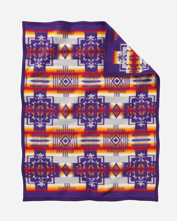 Chief Joseph Baby Blanket Purple