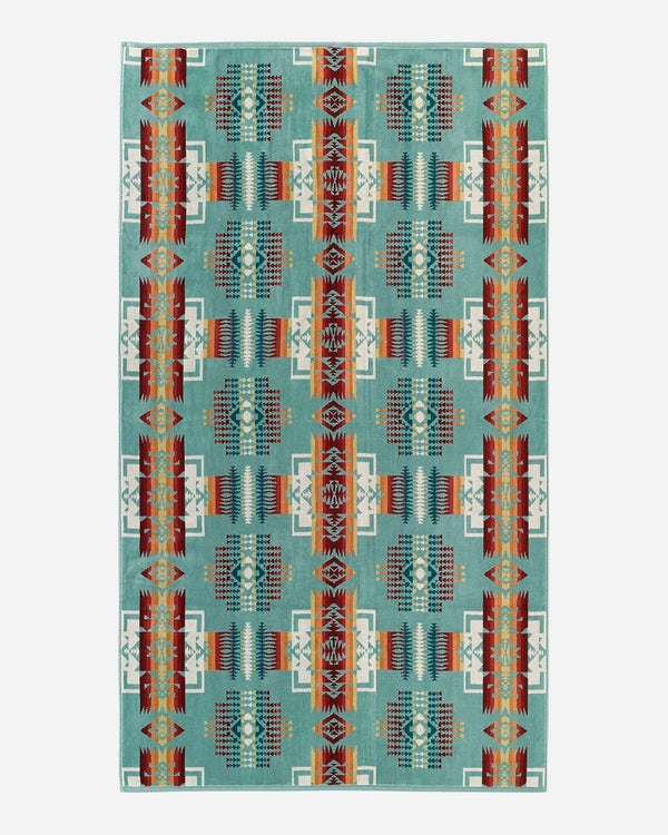 Chief Joseph Beach Towel Aqua