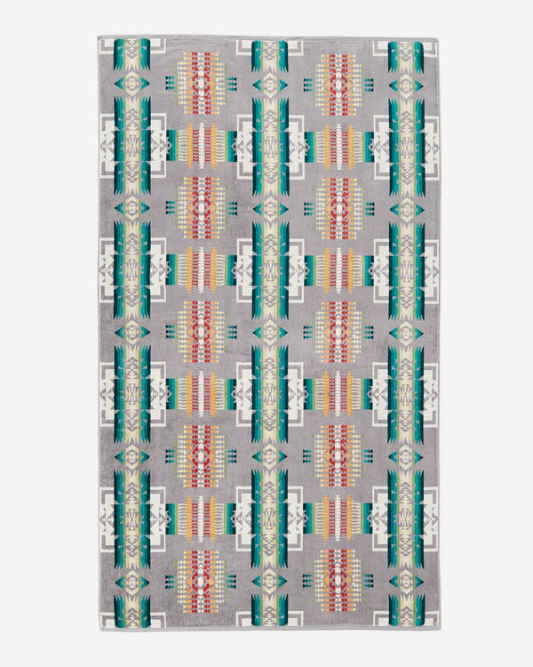 Chief Joseph Beach Towel Grey