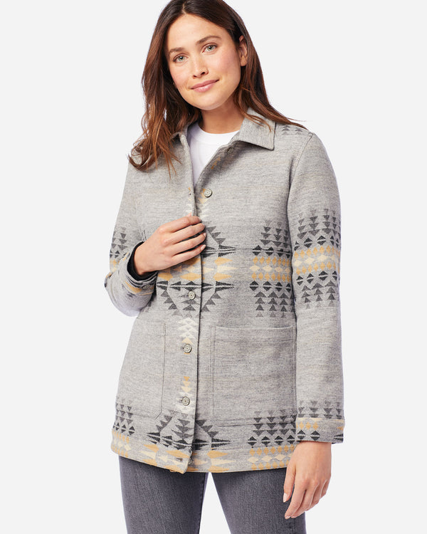 Jacquard Barn Jacket Arroyo Grey Mix