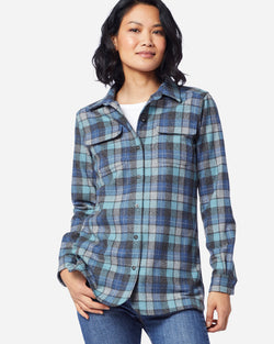 Women's Board Shirt Blue Original Surf Plaid