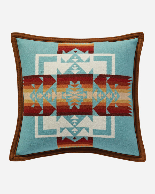 Chief Joseph Pillow Aqua