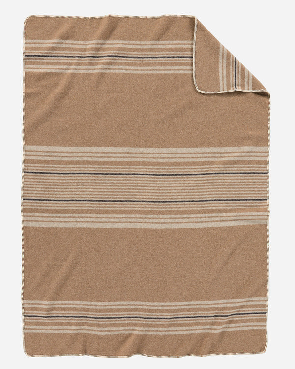 Pendleton Irving Stripe Throw Camel