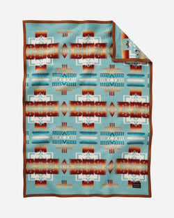 Chief Joseph Baby Blanket Aqua