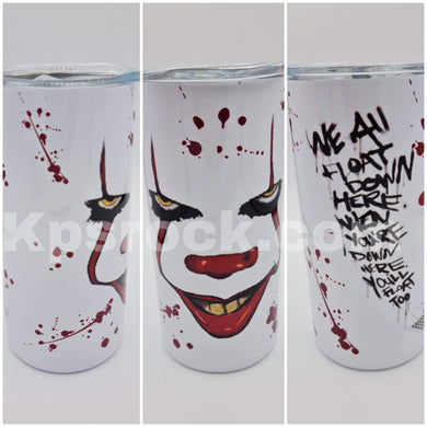 Pennywise the clown hot & cold drink tumbler