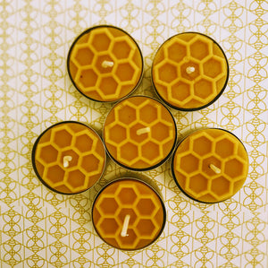 Candy Light - 6 Beeswax Tea Lights by Frank Wrap