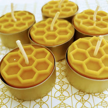 Load image into Gallery viewer, Candy Light - 6 Beeswax Tea Lights by Frank Wrap