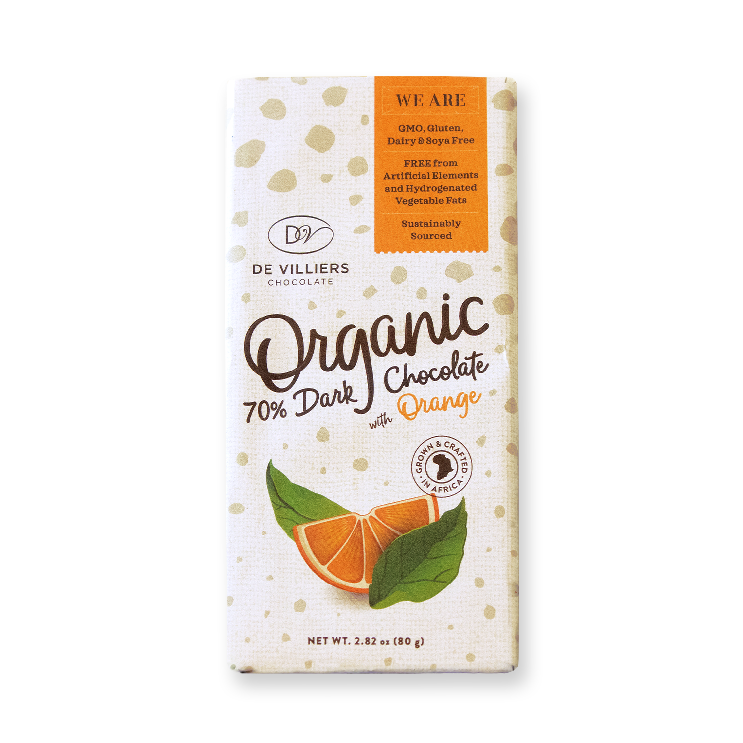 Organic 70% Dark Chocolate With Orange