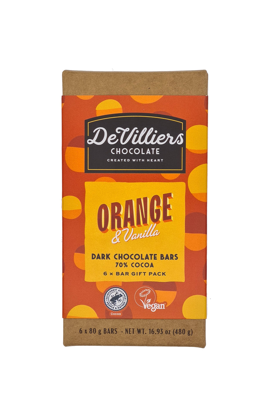 ORANGE & VANILLA DARK - De Villiers Chocolate