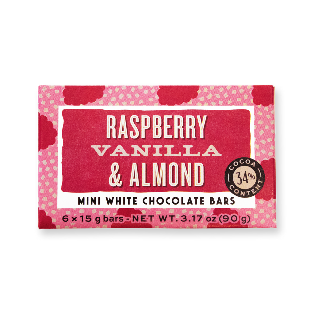 Mini Bar Pack Raspberry Vanilla & Almond - De Villiers Chocolate