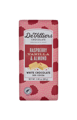Raspberry, Vanilla & Almond Blonde - De Villiers Chocolate