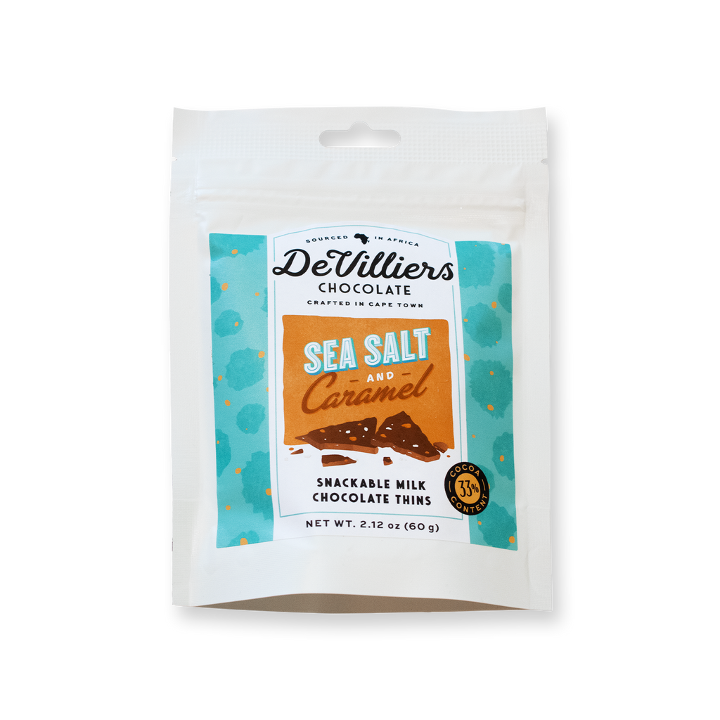 Sea Salt & Caramel Thins - De Villiers Chocolate