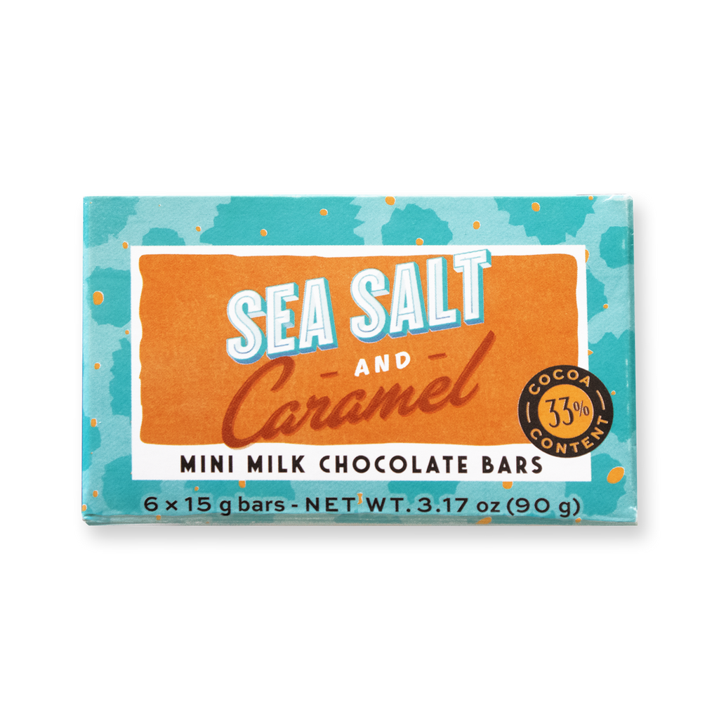Mini Bar Pack Sea Salt And Caramel - De Villiers Chocolate