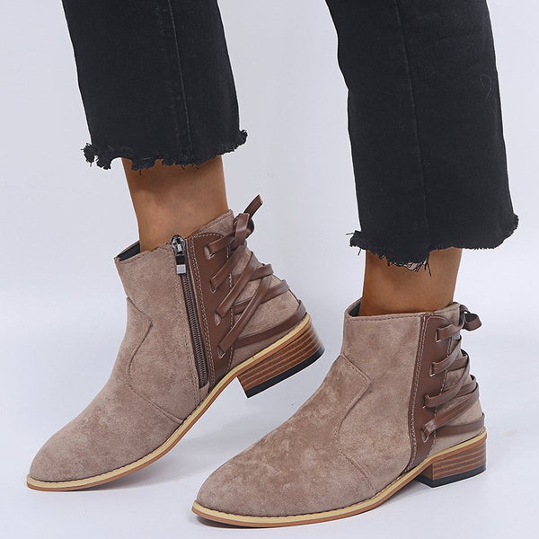 Low Heel Ankle Daily Casual Booties