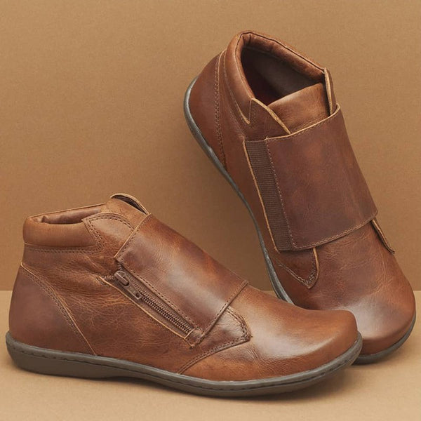 Women Comfy Soft Sole Leather Booties Shoes