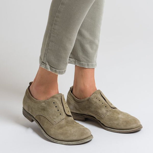 Women's flat casual leather loafers
