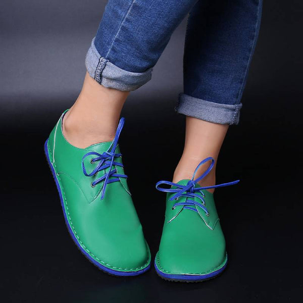 Lace-Up Flat Heel Soft Comfort Shoes