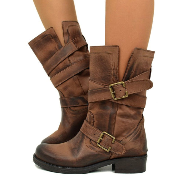 woman Winter Vintage New pattern Short boots