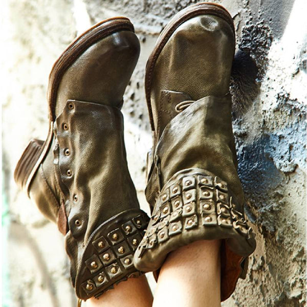 Women Cowgirl Comfy Slip-on Booties Shoes