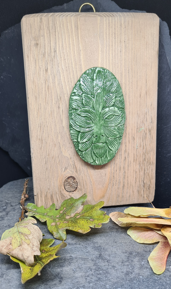 Ceramic Green Man Wall Plaque