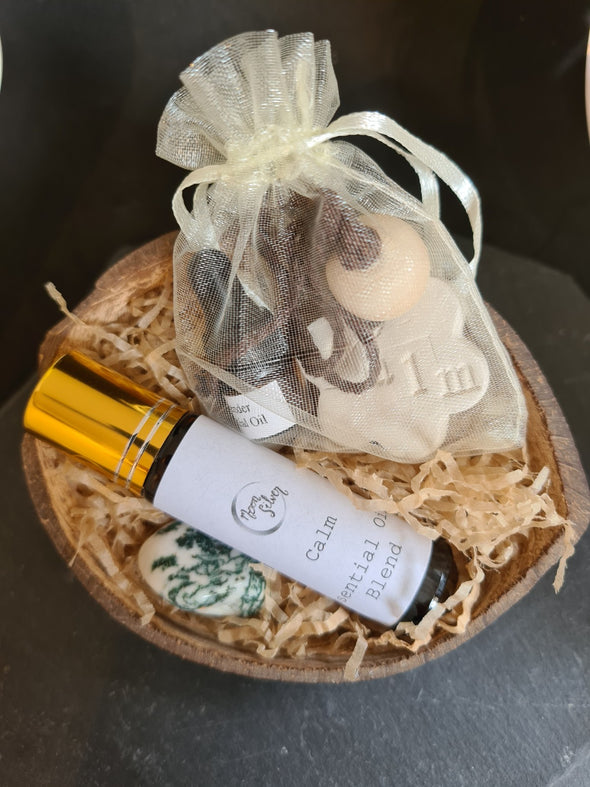 Natural coconut shell wellbeing gift