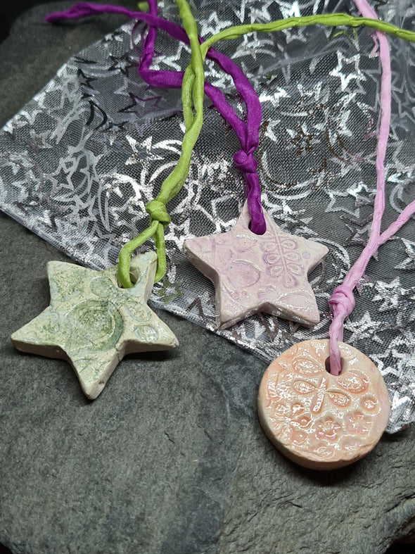 Moonsilver nature inspired tree ornaments