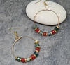 Gold Plated Gemstone Hoop Earrings