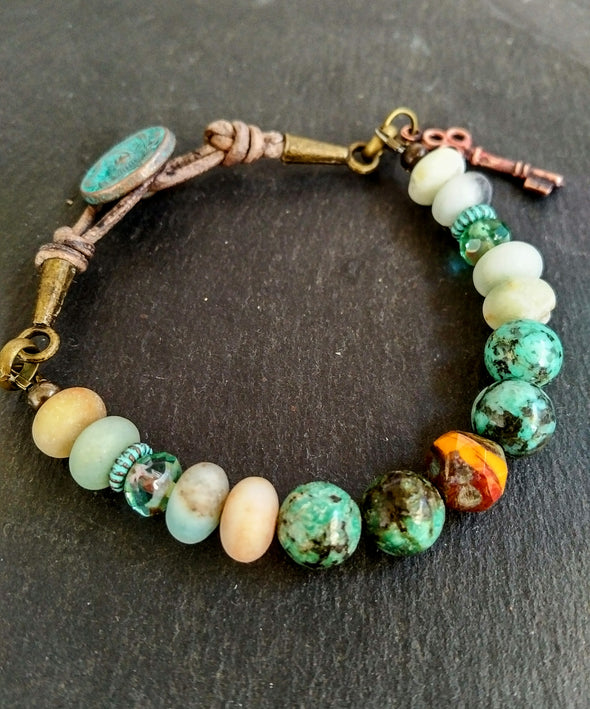 Turquoise and Amazonite Bracelet