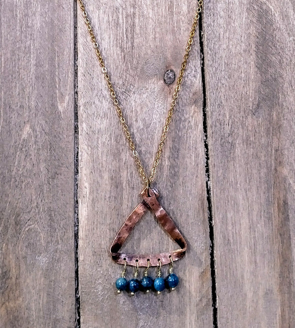 Bohemian blue apatite necklace