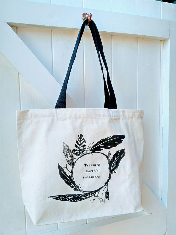 Moonsilver Screen Printed Eco Canvas Tote