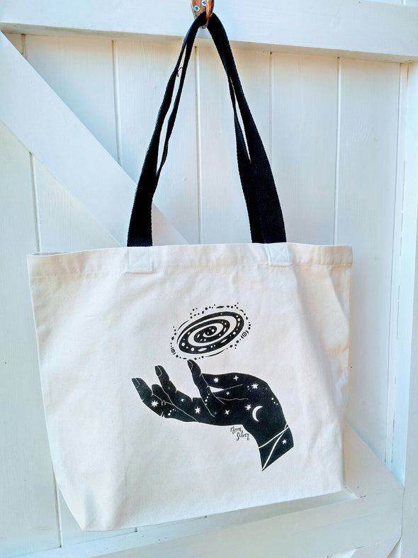 Moonsilver Mystical Cosmos Screen Print Tote