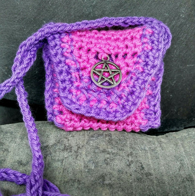 Moonsilver Crochet Amulet Bag