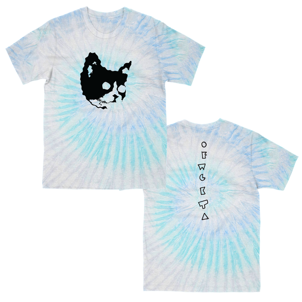 Meow T-shirt Blue Ice Tie Dye