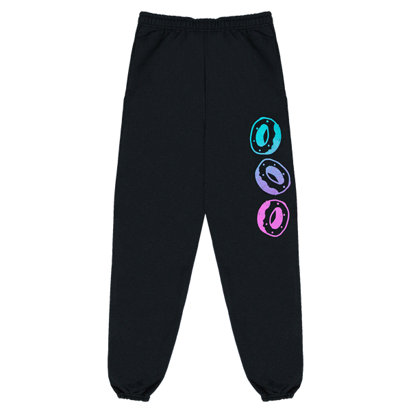 Scribble Sweatpants - Black
