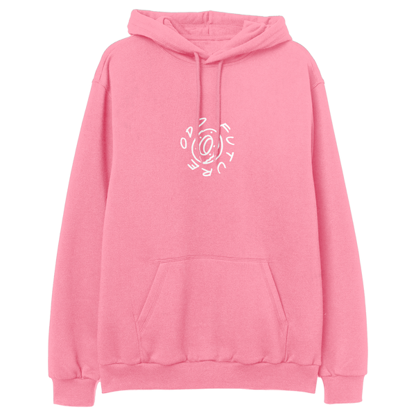 In The Round Pullover Hoodie - Pink