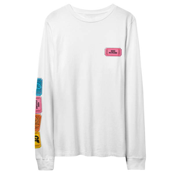 Raffle Ticket Longsleeve Shirt - White
