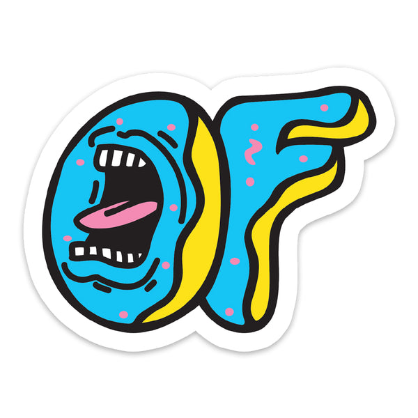 SCREAMING OF X SANTA CRUZ STICKER-Odd Future