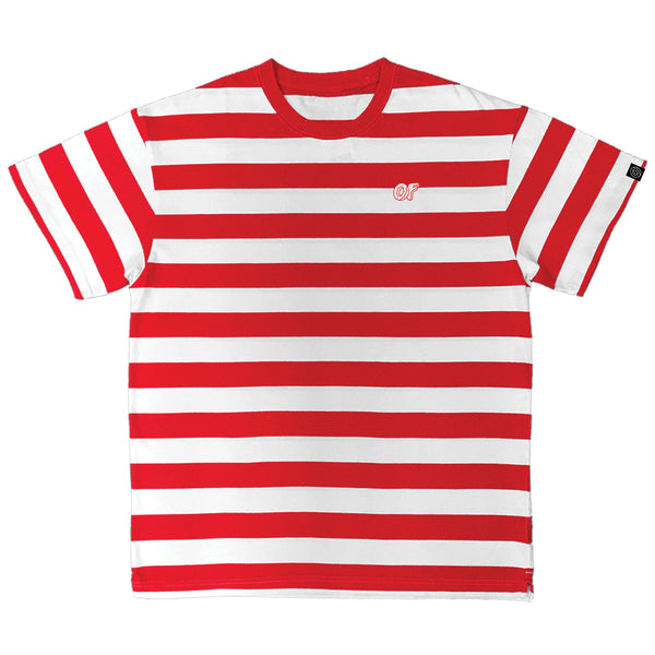 OF LOGO STRIPED TEE-Odd Future