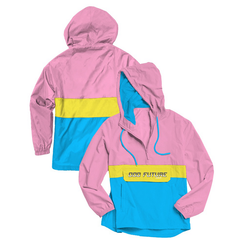 Odd Future Color-Block Anorak - Pink/Yellow/Blue