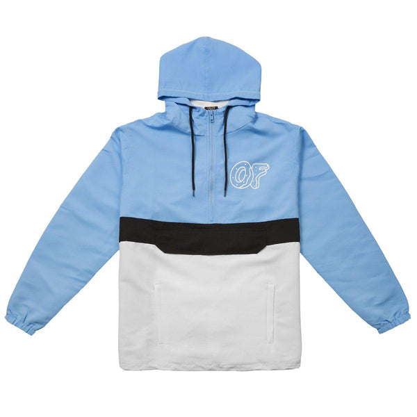7710199504d1 BLUE COLORBLOCK ANORAK JACKET - Odd Future