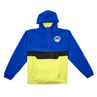 Blue and Yellow Colorblock Anorak Jacket