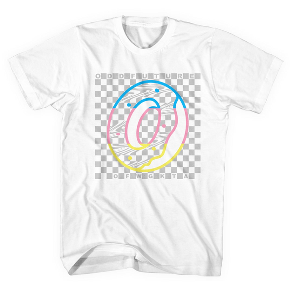 Rainbow Checkered Tee - White