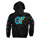 SANTA CRUZ/SCREAMING OF LOGO TIE-DYE HOODIE-Odd Future