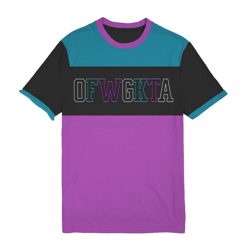 OFWGKTA Purple Aqua Colorblock Tee