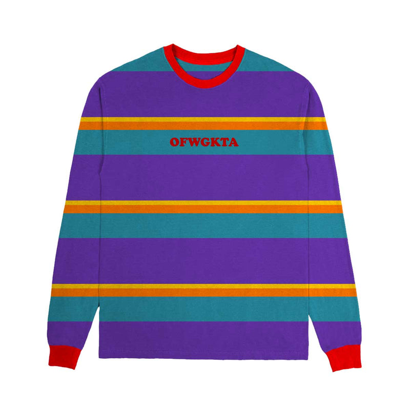 OFWGKTA Striped Knit Long Sleeve - Purple