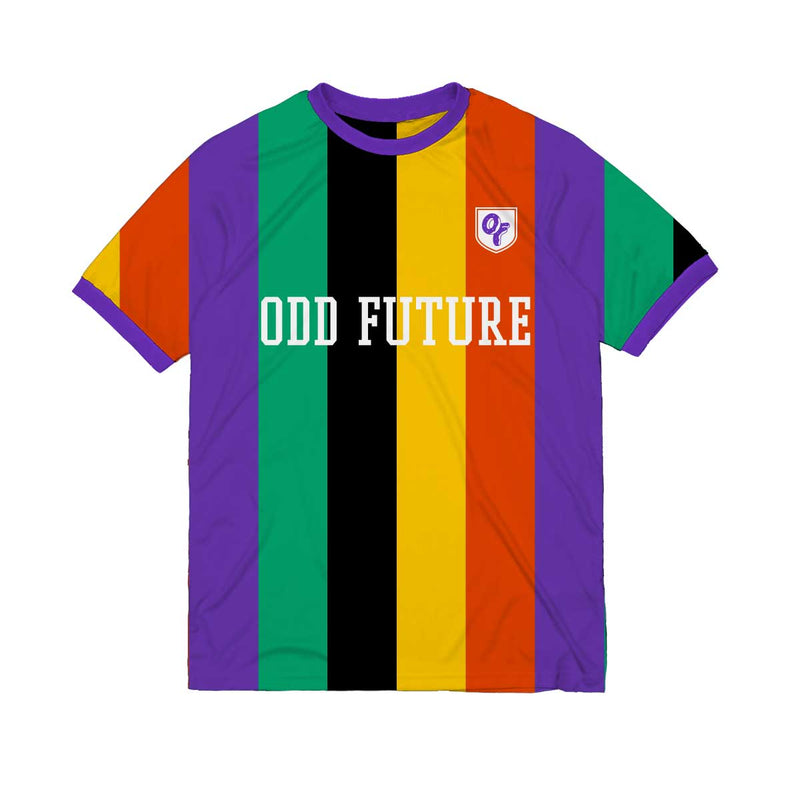 Multi Striped Soccer Jersey
