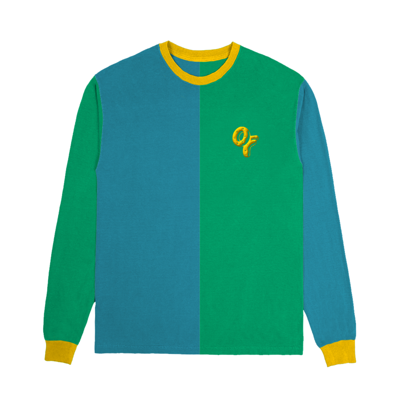 Colorblock Long Sleeve - Blue and Green