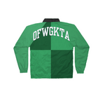 Colorblock Coaches Jacket - Green